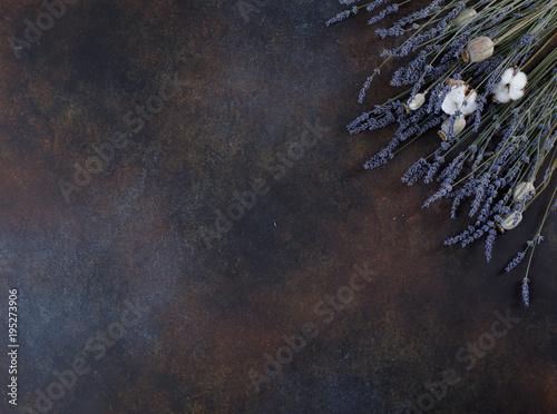 Fotobehang Lavendel Lavender flowers on grunge background