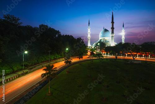 Foto op Canvas Kuala Lumpur Sultan salahuddin abdul aziz shah mosque