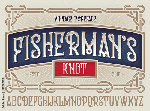Canvas Vintage Poster Old style typeface