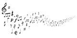 音符 楽譜 シルエット 背景 - 195288559