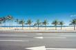 Quadro Sunny summer day with Palms on Ipanema Beach,  Rio de Janeiro, Brazil.