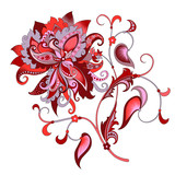 decorative   flower with oriental style - 195289189