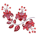 decorative   flower with oriental style - 195289197