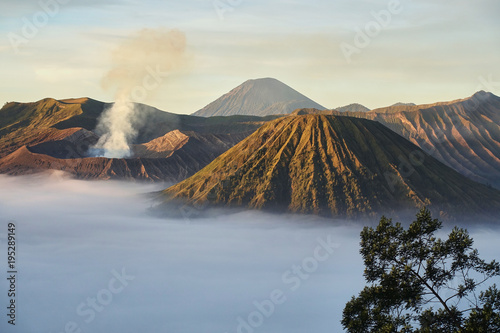 Aluminium Zonsopgang Sunrise at Mount Bromo