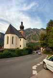 Saint Leonhard church in Alps of Austria near Germany border.