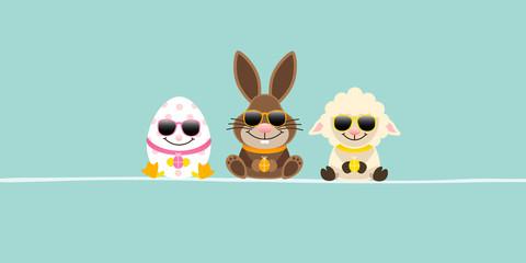 Banner Easter Egg, Bunny & Sheep Sunglasses Retro