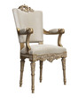 Classic baroque chair isolated on white background.Digital illustration.3d rendering