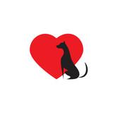 Love Dog Icon Logo   Wall Sticker