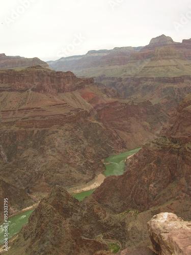 Foto op Canvas Cappuccino Grand Canyon, Bright Angel Trail, Arizona