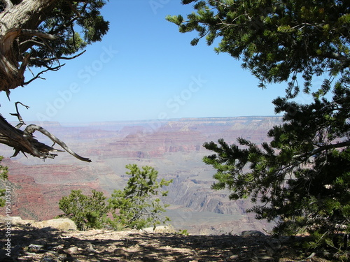 Foto op Canvas Zwart Grand Canyon, Bright Angel Trail, Arizona