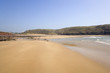 UK, Wales, Pembrokeshire, Manorbier Bay in spring sunshine