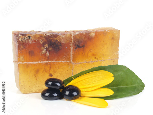 Foto op Canvas Spa Natural soap