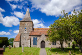 The church of St Mary the Virgin in St Mary in the Marsh, a village near New Romney in Kent, South East England, UK - 195321738
