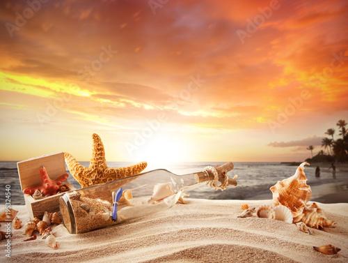 Foto op Canvas Oranje eclat sunset