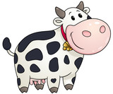 Chubby cow. Vector clip art illustration with simple gradients.
