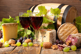 red wine and cheese - 195329719