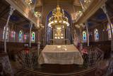 Inside of the Orthodox Synagogue, Oradea, Romania - 195330381