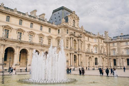 Wall mural Louvre museum in Paris France