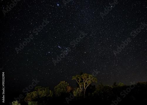 Aluminium Heelal Sterne am Himmel, Milchstraße über Australien