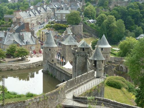 Fotobehang Pistache Château de Fougères, Bretagne, France