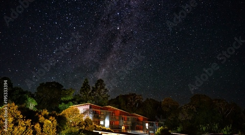 Deurstickers Heelal Sterne am Himmel, Milchstraße über Australien