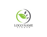 Logos of green leaf ecology nature element vector icon - 195333952