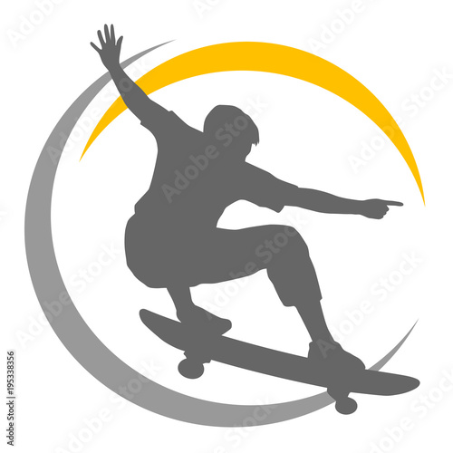 Fotobehang Skateboard Skateboard - 58