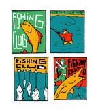 Fishing Poster Set Wall Sticker