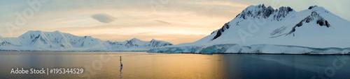 Aluminium Antarctica Wiencke Island / Dorian Bay snowy mountain landscape in Antarctica.