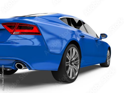 Luxury Blue Sedan Car Isolated