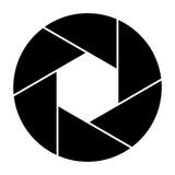 Camera shutter icon symbol and shutter blade vector illustration - 195353330