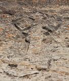 Rock hewn Ethiopian Christian cross  - 195355179