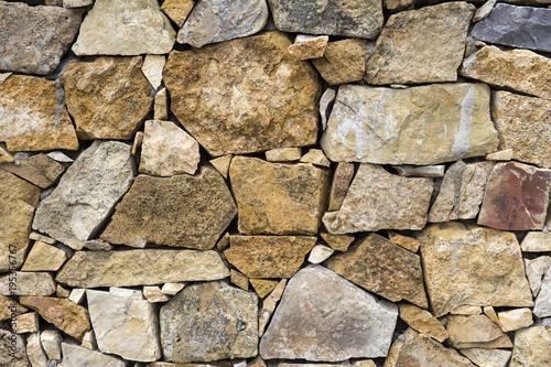 Foto op Canvas Stenen Old stone wall