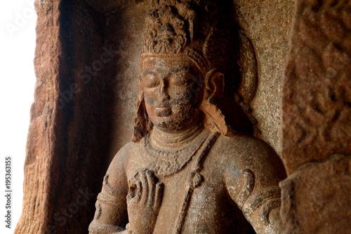 Plexiglas Boeddha Барельефы, украшающие стены и колонны индийских храмов