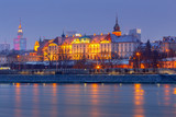 Warsaw. View of the old city at sunset. - 195363318