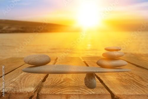 Foto op Canvas Zen Balance.