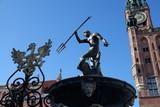 Gdańska Starówka, Polska - Fontanna Neptuna