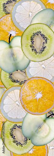 fondo de varias frutas - 195363961