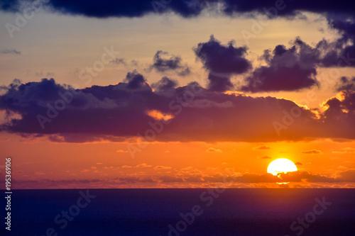 Poster Crimson Sea Tropical Sunset