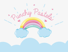 Punchy Pastel Concept Sticker