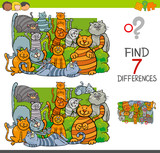 find differences with cats animal characters - 195376518