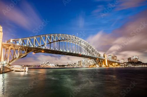 Sydney Sydney harbor panorama at night