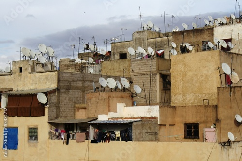 Papiers peints Maroc Satellite dishes in Morocco