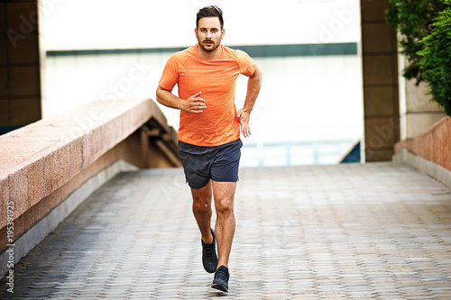 Fotobehang Fitness Man is jogging
