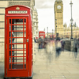 The iconic british old red telephone box