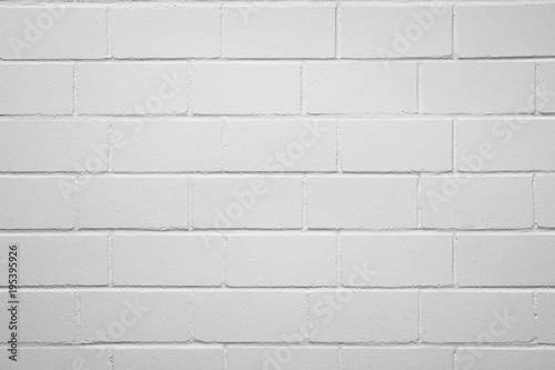 Tuinposter Baksteen muur weiße Ziegelwand als Hintergrund