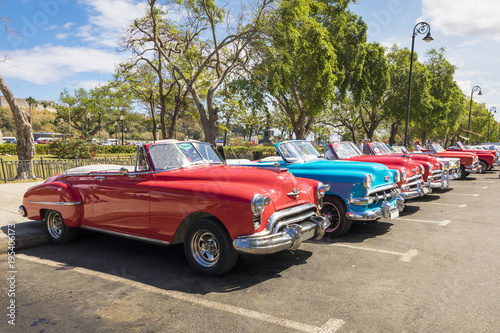 Fotobehang Havana Autos antiguos clasicos en la habana