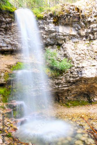 Troll Falls in the Kananaskis Country of Alberta, Canada - 195406591