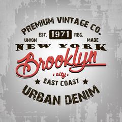 Vintage print design on t-shirt