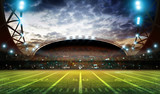 lights at night and stadium 3D rendering. - 195419751